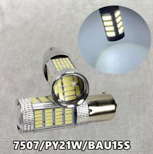Front Turn Signal BAU15S 7507 PY21W 92 LED White Bulb Lamp W1 JAE