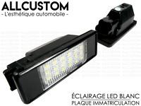 AMPOULES LED LEDS ECLAIRAGE BLANC XENON PLAQUE IMMATRICULATION pour PEUGEOT 306