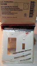 CooperPJ126WPlastic wallplate 2 gang decorator/ToggleWhite