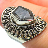 Large Tourmalinated Quartz 925 Sterling Silver Ring Size 6.25 Jewelry R29087F