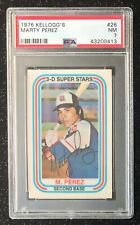 1976 Kellogg's Marty Perez #26 Baseball Card Atlanta Braves PSA 7 NM