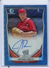 2014 BOWMAN CHROME DRAFT JAKSON REETZ AUTO BLUE WAVE REFRACTOR 4/10 BCA-JR