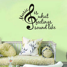 Music Is What Feelings Sound Like Quote Wall Sticker Home Decor Music Wall Decal