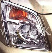 CHROME HEADLIGHTS COVER TRIM USE FOR ISUZU D-MAX DMAX PICKUP 2007 - 2011