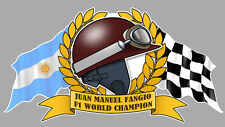J-M. FANGIO F1 WORLD Champion Sticker