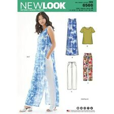 New Look Sewing Pattern 6566 Misses Size 8-18 Easy Tunic Top and Pull on Pants