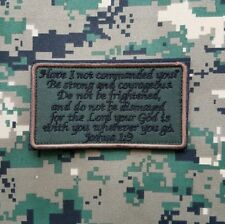 JOSHUA 1:9 ARMY COMBAT INFIDEL USA ARMY HOOK PATCH FOREST EMBROIDERED BADGE
