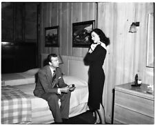 Hedy Lamarr John Loder in bedroom Rare Original 5x4 Photo Camera Negative 1940's