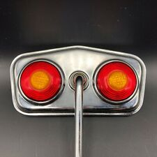 Vintage Bicycle Rear View Chrome Mirror Double Bullseye Red Yellow Reflectors