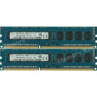 Hynix 16GB 2X8GB PC3-14900E 2Rx8 DDR3-1866MHZ ECC Unbuffered UDIMM Memory Ram