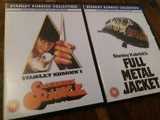 Kubrick Collection UK R2 DVD Clockwork Orange + Full Metal Jacket - Remastered