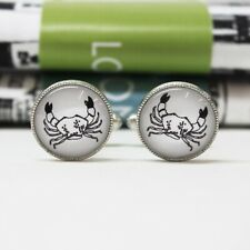 Illustrated Crab Cufflinks