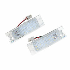 2x VAUXHALL 18 LED License Number Registration Plate Lights Bulbs Holders Lamps