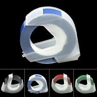 """5 Colour 3D Label Maker Manual Embossing 3/8"""" 3Meter Refill Tape For DYMO MOTEX"""
