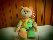 Rare Beanie Baby Peace Bear (Unique Face and Tag Errors)