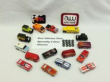 AFX Aurora Autoworld Specialty 4-Gear Chassis HO slot car 12 Silicone Tire Lot.