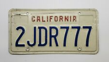 California 777 (Red, White & Blue) Specialty Passenger CA Car Tag/License Plate