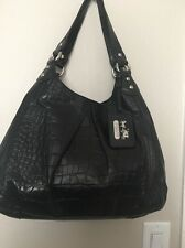 Coach 14602 Madison Maggie Exotic Black Leather Bag $548