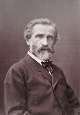 Composer Giuseppe Verdi orig 1880s Photo & French magazine