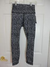 NWT Lululemon Wunder Under HR 7/8 Tight Formation Alpine White Black Size 6