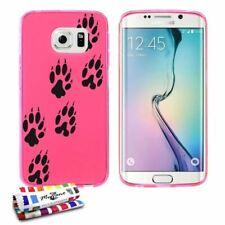 COQUE SAMSUNG GALAXY S6 EDGE OURS SILICONE ROSE SOUPLE (TPU)
