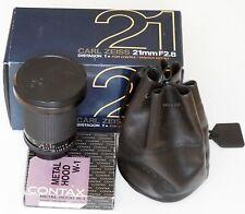 Contax Carl Zeiss Distagon 21mm 2.8 MMJ lens, W-1 hood, LN | 2,8/21
