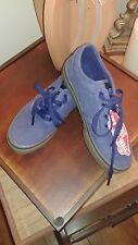 NIB Vans Kids Skate, Washed out Blue Rubber Gum Sole Sneaker Size 2