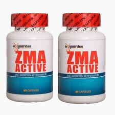 ZMA Zinc Magnesium Vitamin B6  2 X ZMA ACTIVE 60 CAPSULES Testosterone booster