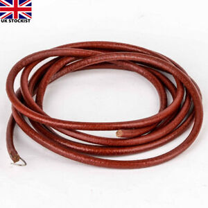 "72"" 181cm Leather Belt Antique Treadle Parts + Hook For Singer Sewing Machine"