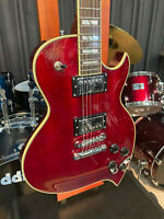 D'Angelico Premier Series Teardrop Solidbody Electric Guitar Cherry w/ bag