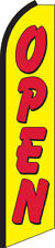 Open Yellow/Red Swooper Flag Feather Super Bow Banner