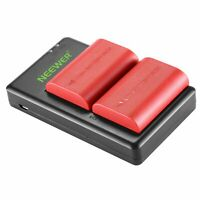 Neewer LP-E6 LP E6N Battery Rechargeable Battery Charger Set for Canon 5D Mark I