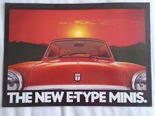 Mini E Type brochure c1980's ref 3570