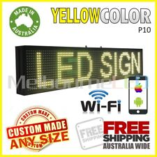 LED SIGN  Yellow WiFi Control Scrolling Programmable Message Display 670x190 AU