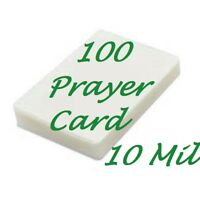 Prayer Card 100 10 Mil Laminating Pouches Laminator 2-3/4 x 4-1/2 Scotch Quality