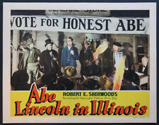 ABE LINCOLN IN ILLINOIS RAYMOND MASSEY 1940 LOBBY CARD