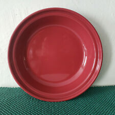 "Longaberger Pottery - Woven Traditions / Paprika - 10"" Pie Baking Plate"