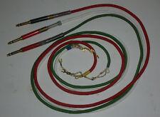 Klinkenstecker mit Textilumflochtenen 3 adrigem Kabel  (Stecker Schwarz / Rot ?)