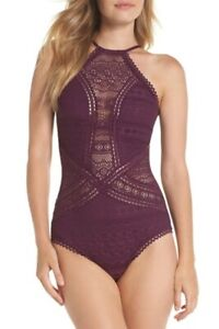 Becca Color Play High-Neck Illusion Swimsuit, XL