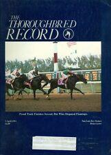 1985 Thoroughbred Record Magazine: Proud Truth Finish 2nd But Wins Flamingo