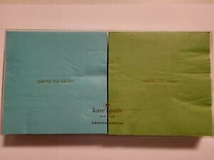 Kate Spade New York Blue and Green Set Of 40 Cocktail Napkins