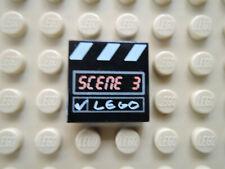 Lego 1 x Fliese 3068bpx5 schwarz 2x2 bedr. Scene 3  4069 1349 1356
