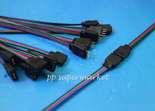 4 Pin Male Female With Wire RGB Cable Connector For 3528 5050 LED Strip