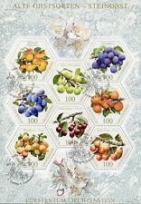 Liechtenstein 2017 CTO Old Fruit Varieties Stone Fruits 8v M/S Nature Stamps