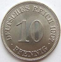 Superior! 10 Peniques 1907 E En Uncirculated