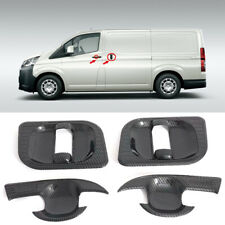 For Toyota HiAce H300 2019 2020 Black Side Door Handles Cup Bowl Cover Trim 4PCS