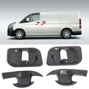 Fit for Toyota HiAce H300 2019 2020 Black Side Door Handles Bowl Cover Trim 4PCS