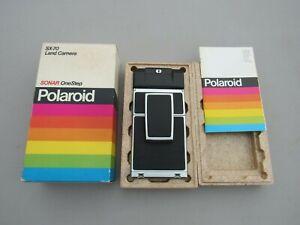 Vintage Polaroid SX-70 Land Camera Sonar OneStep, with Original Box & Manual