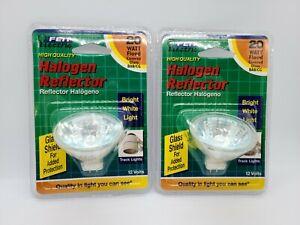 Feit BPBAB 20 Watt 12 Volt Halogen Reflector Light Bulbs 2 pin LOT OF TWO