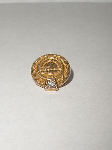 vintage advertising 10k gold American standard 35 year service lapel pin diamond